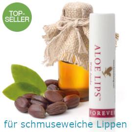 Schmuseweiche Lippen dank Aloe Vera und Jojobaöl